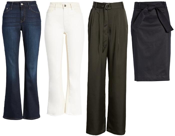 pantaloni pentru silueta clepsidra
